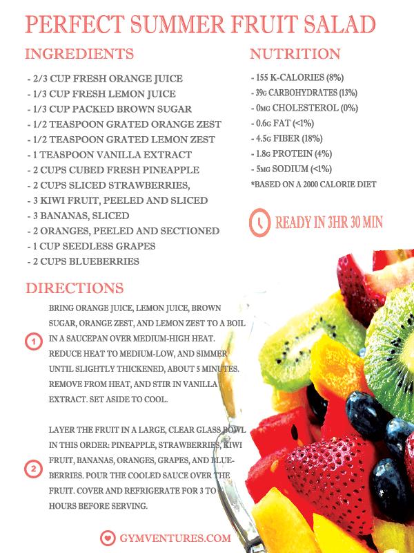 healthy summer fruit salad
