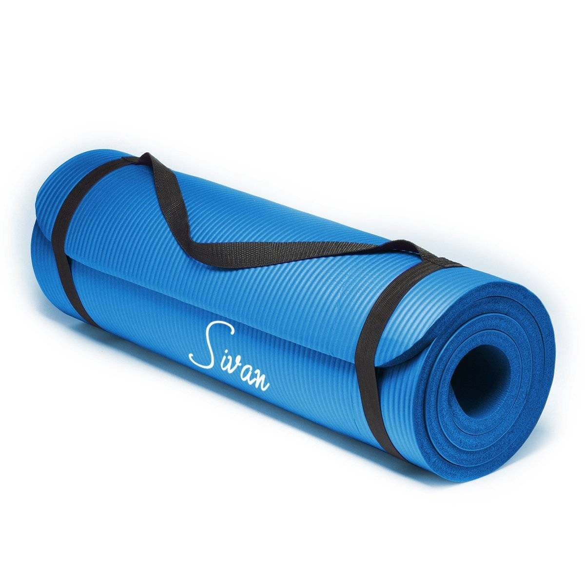 Extra Thick 71-inch Long Sivan Health NBR Comfort Foam Best Yoga Mats