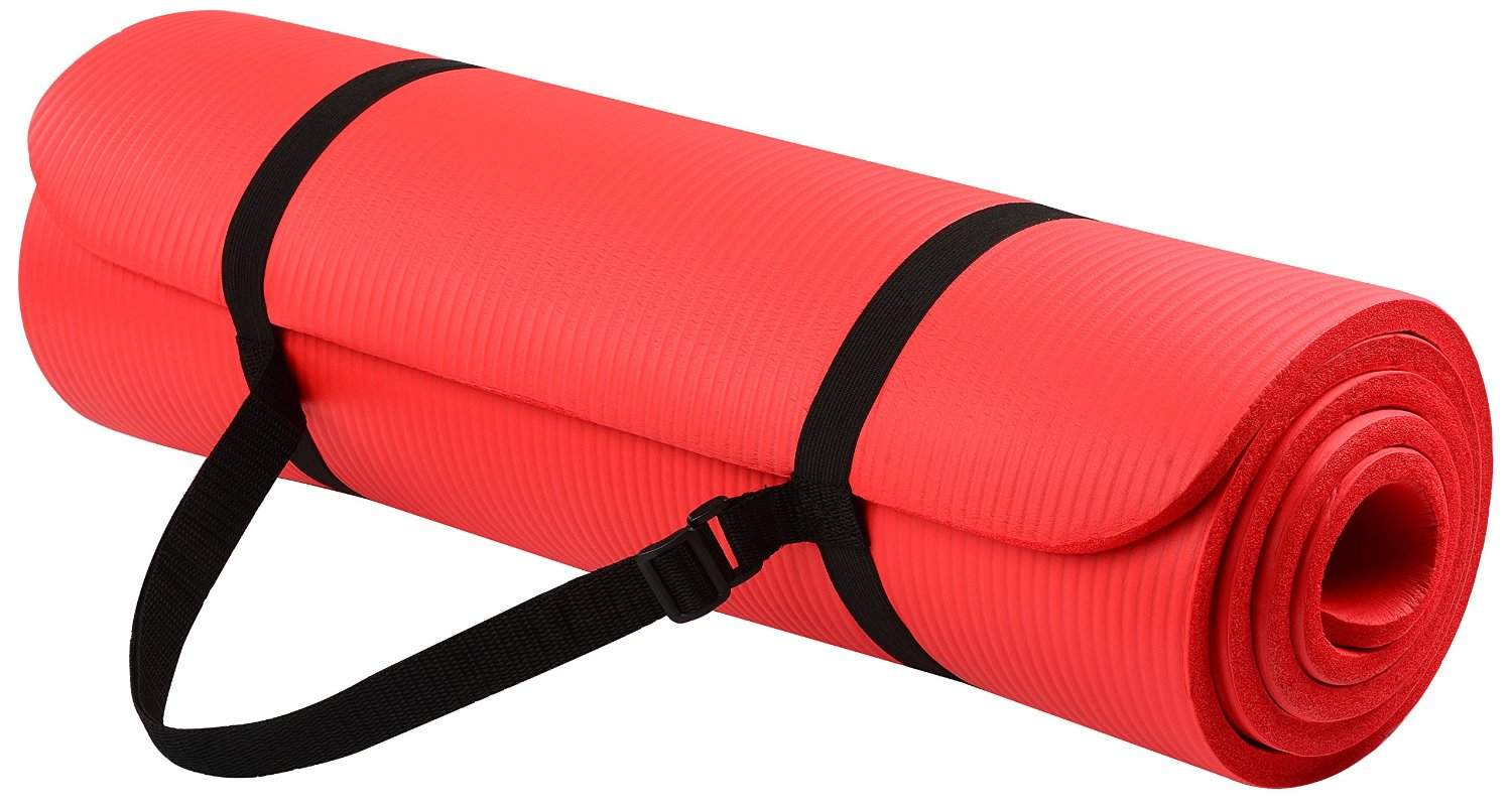 GoYoga All-Purpose Extra Thick High Density Anti-Tear Top Yoga Mat with Carrying Strap