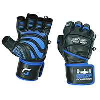 Grip Power Pads Elite Leather Gym Gloves
