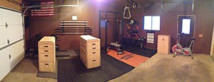 Strategically Built Gym, Enough Space For The Car To Pull In. This Home Gym In The Garage Has All Things Crossfit Related.