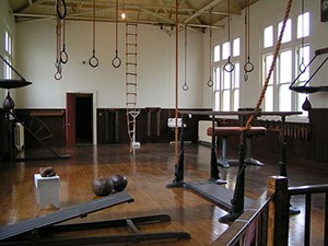 Wall Balls, Leather, Ladders, Rings, This Is A Gymnastic Heaven. Though Not A Garage Gym Idea Per Se, Still Very Relevant.