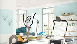 White Style Home Gym Idea, A Little Ritzy But Beautiful. Cardio Lives Here, And This Is A Place Where Carbs Go To Die.