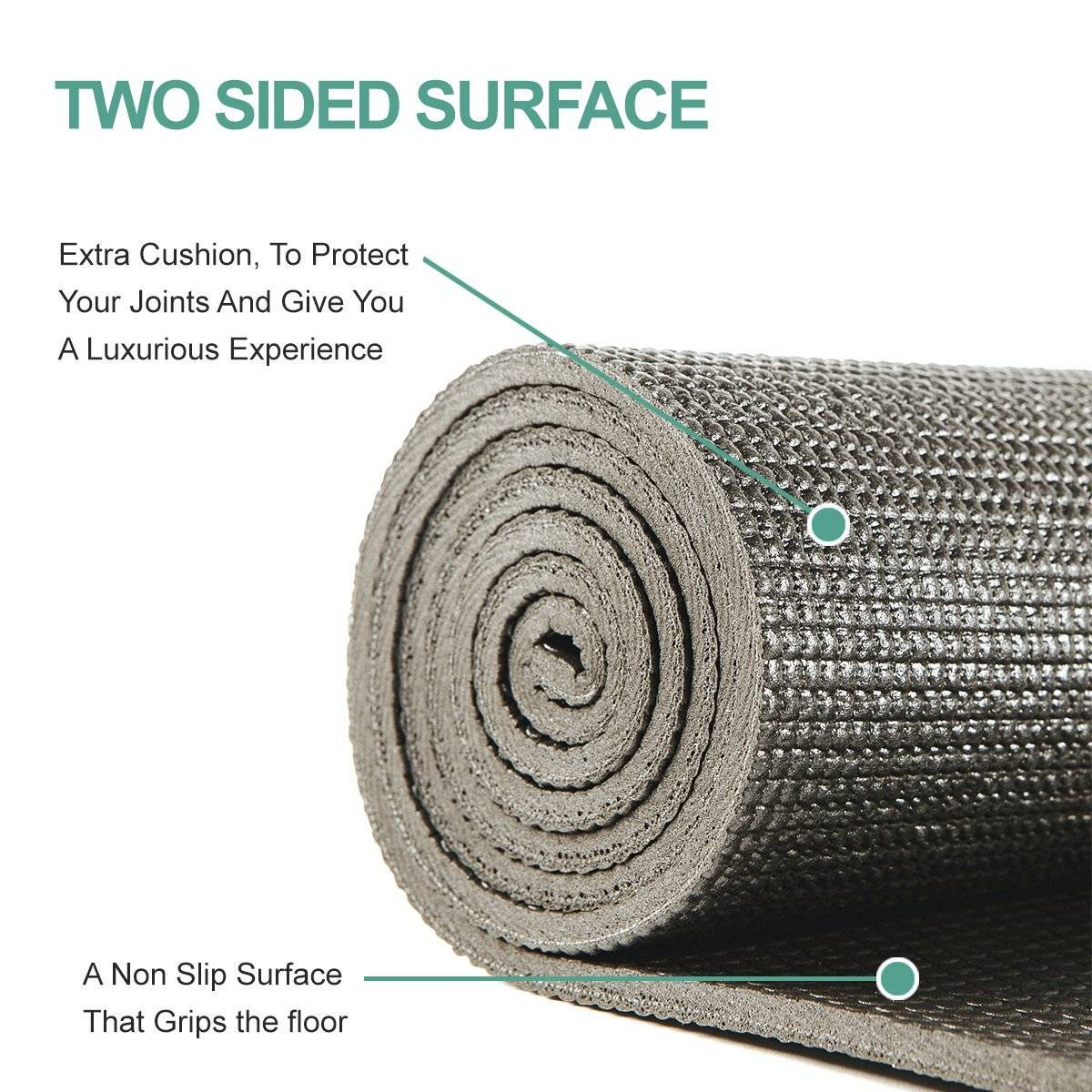 Zen Active Non-Slip Yoga Mat Extra Thick quarter-inch