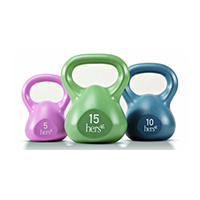 Hers 30 lb Vinyl Kettle Weight Set - 3 Kettlebells