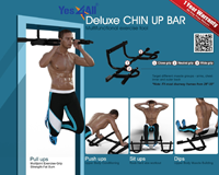 Yes4all Deluxe Free Standing Chin Up Bar For The Home Gym