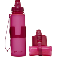 Nomader Collapsible Water Bottle – Leak Proof – Bpa Free