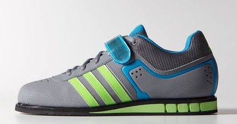 Adidas Adipower Weighlifting Shoes - Gray Blue Cool Gym Shoes