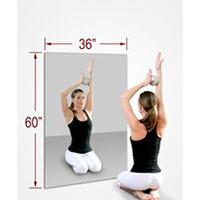 36 X 60 Inch Rectangle Mirasafe Gym Mirror Kit