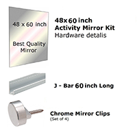 Fab Glass And Mirror Activity Mirror Kit For Gym And Dance