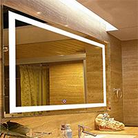 Gravity Decor Large Rectangular Wall Mounted Vanity Mirror
