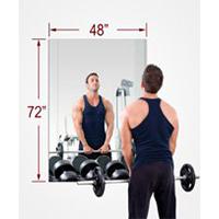 Rectangle Mirasafe Gym Mirror Kit