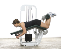 Leg Curl (hamstrings) Machine Workout Exercise