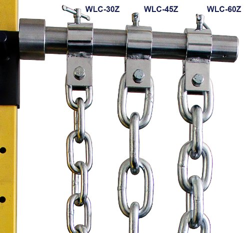 Ader Fitness Weight Lifting Chain Set- 45 Lb Zinc with Chrome Collars