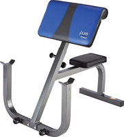 Adjustable Seated Preacher Curl Bench By Pure Fitness