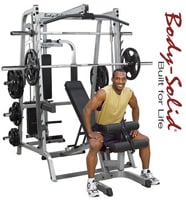 Body Solid Gs348qp4 Series 7 Smith Gym For The Home