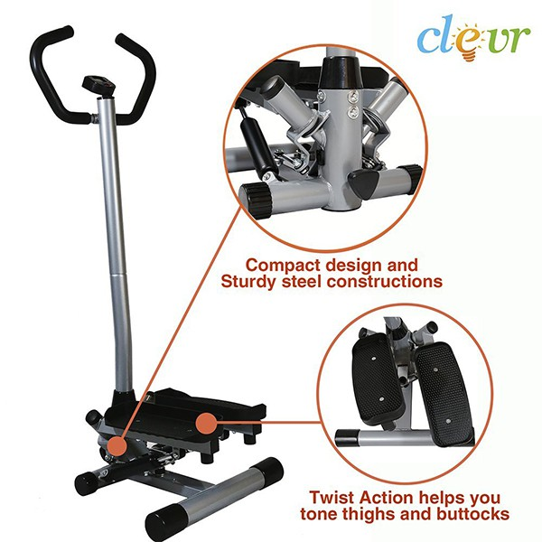 Clevr Twister Stepper with Handle Bar Step Machine