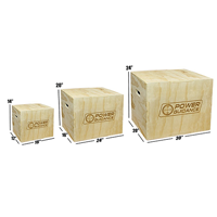 Power Guidance 3 In 1 Wood Plyometric Box