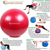 Premium Fitness Ball For Exercise By Smarterlife