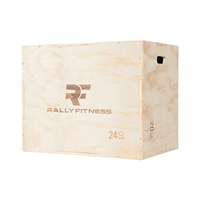 Rally Fitness 3 In 1 Wood Plyometric Box