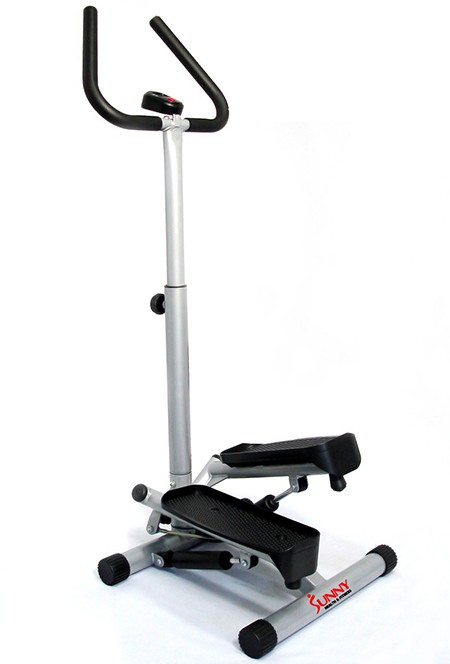 Sunny Health & Fitness Twister Best Stair Stepper with Handle Bar
