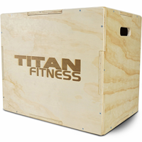Titan Fitness 16in 20in 24in Wood Plyometric Box