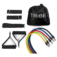 Tribe 11 Piece Exercise Resistance Bands Set