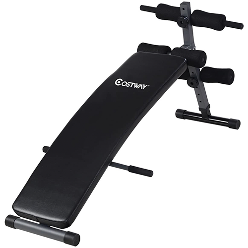 Costway Adjustable Arc Shaped Decline Sit Up Bench