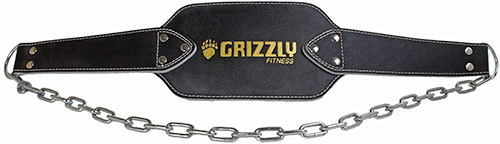 Grizzly Fitness Premium Leather Dip Belt